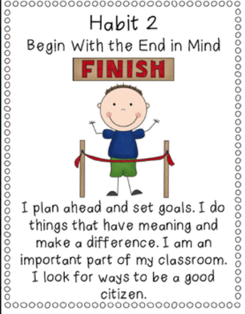 Habit #2- Begin With the End in Mind - Award Winners