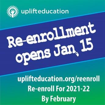 ¡La reinscripción de estudiantes actuales comienza este viernes, 15 de enero!