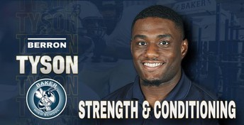 Baker Athletics Welcomes New Strength and Conditioning Coach, Berron Tyson, to the Hornet Family.