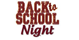 Back to School Night (September 16)