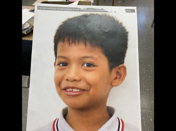 Photo of young orphan boy from Malaysia.