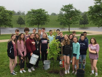 TOHICKON STUDENTS PLANT TREE TO BRING AWARENESS TO PAPER WASTE