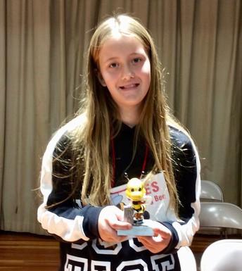 Picture of Spelling Bee Winner Raeanna Hose