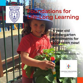 Kindergarten 2021 Enrolment Applications
