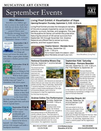 Muscatine Art Center September Activities