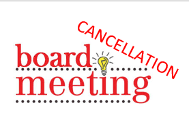 BOE Meeting Cancelled