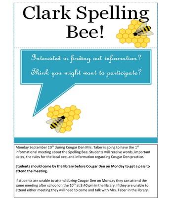 Spelling Bee Information