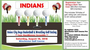 UC Boys Basketball & Wrestling Golf Outing