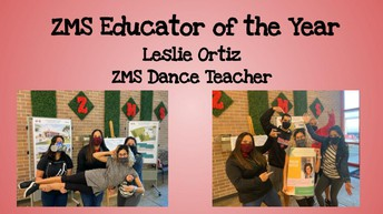 Ms. Ortiz - Zachry Educator of the Year