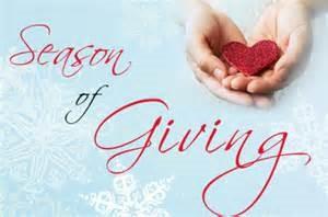 December, a Season for Giving!