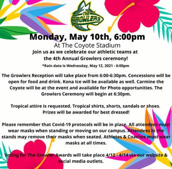 Growlers - Monday, May 10th
