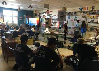 Students using a classroom Recordex