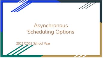 2021/2022 SCHEDULE OPTIONS