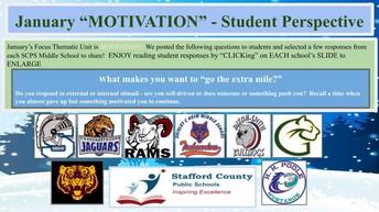 Middle School January Focus Theme
