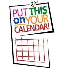 Mark your Calendars: