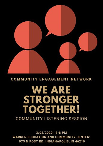 Community Listening Session with Community Engagement Network