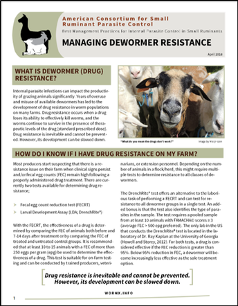 New Fact Sheet on Dewormer Resistance
