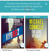 """Tap the word """"Loans"""" in the message that appears after you check out the book."""
