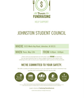 Eat at Panera, Support Student Council!