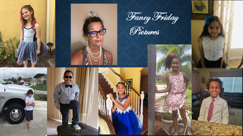Mrs. Lloyd's class at Palm Pointe Participates in Fancy Fridays