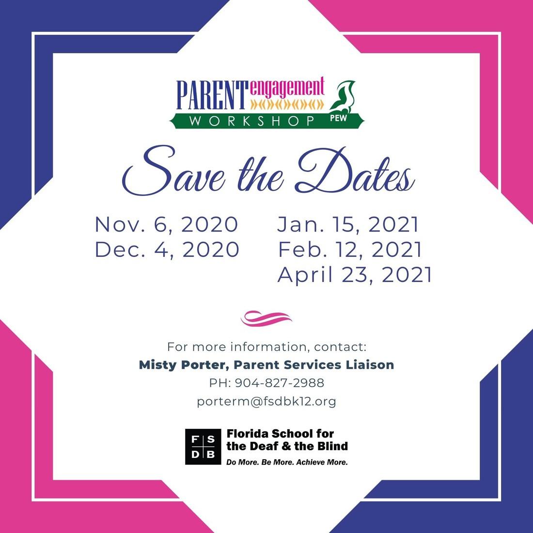 PEW Dates flyer