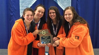 Congratulations to our 400-meter freestyle relay team for winning the state championship:  Libby Seitz, Lili Gregov, Elisabeth Ragan, and Parker Hagemann!
