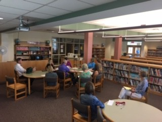 Teachers meeting after school to learn more about interventions