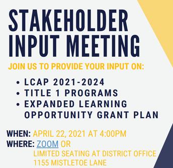 Stakeholder Input Meeting