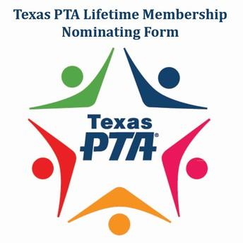 2021 Texas PTA Lifetime Membership Nominations