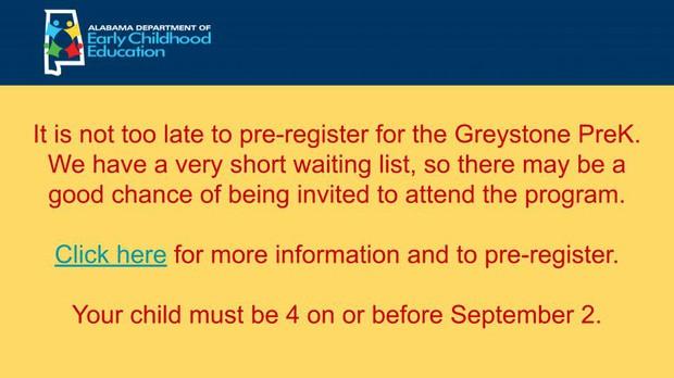 Register for prek