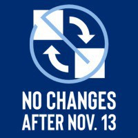 no changes after Nov. 13 graphic