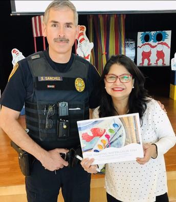 Officer Sanchez & Author Carolyn Dee Flores