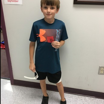 Lonnie earned a Red Raider prize!