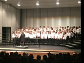 LMS choir performing at the North Norman Secondary Choral Festival.