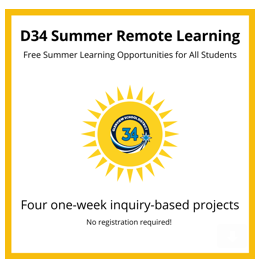 D34 Summer Remote Learning