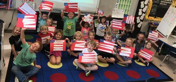 Kinder creates Flags for Freedom Week!
