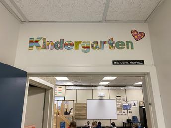 Entrance to the Kindergarten Classroom