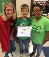 Caden Abbott in Mrs. Langston's 4th Grade Class