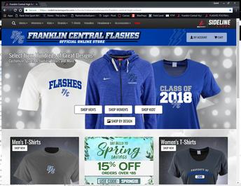 Custom Franklin Central Fan Gear!