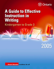 A Guide to Effective Instruction in Writing K-3