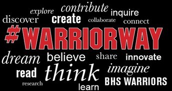 Be Safe~ Be Respectful~ Be Responsible~    It's the #warriorway!