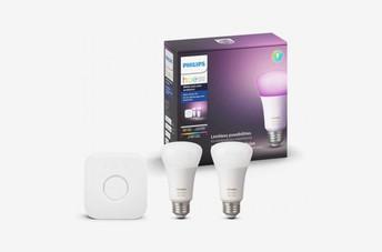 Philips Hue White and Color LED Smart Light Bulb Starter Kit