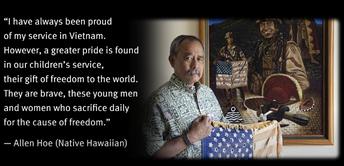 Allen Hoe, Native Hawaiian