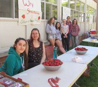 Strawberries ready for Lacrosse Friendship Day