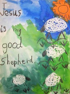 Make a Good Shepherd watercolor