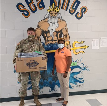 Thank you to Sgt. First Class Agregaard  and 1108 TASMG in Gulfport for donating school supplies to PRE. We appreciate you!