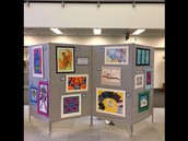 Echo Fulton has art displayed at the Ed Center.
