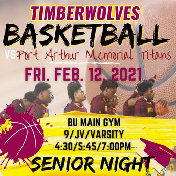 Boys Basketball Senior Night Feb. 12