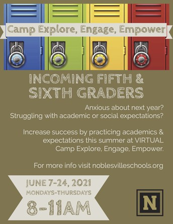 Camp Explore, Engage, Empower (Summer School 5th & 6th)