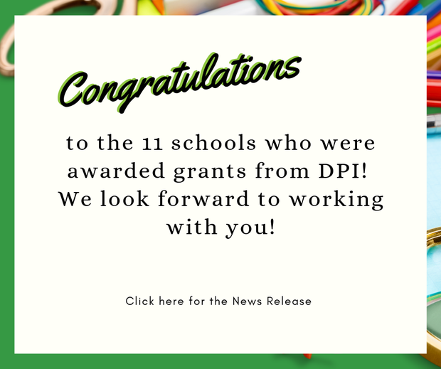 Congrats to the 11 schools awarded charter school grants from DPI.
